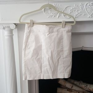 Ann Taylor White Madison Skirt Sz 6P